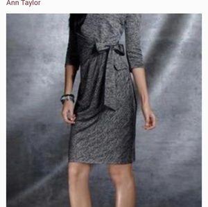 Ann Taylor faux tweed/wrap cowl neck dress